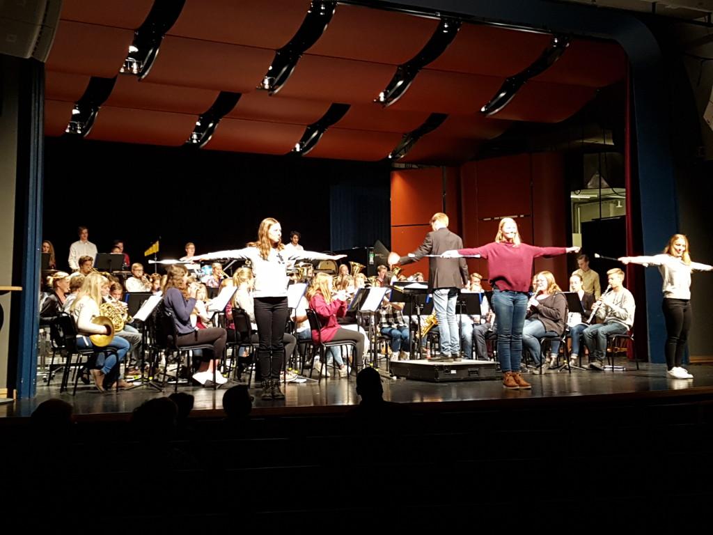 Orkester och drill framträder vid årsmötet